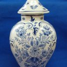 Antique 1890's De Porceleyne Fles Royal Delft Large Pul (Covered Pot)