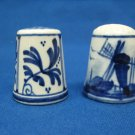 1 De Porceleyne Fles Royal Delft Thimble & 1 Other Thimble