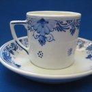 De Porceleyne Fles Royal Delft Blue & White Mocha Cup & Saucer