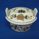 1964 De Porceleyne Fles Royal Delft Polychrome Butter Tub Dish
