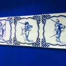 3 Vintage De Porceleyne Fles Royal Delft Square Tiles