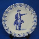 Limited Edition 1973 De Porceleyne Fles Royal Delft Holland Father's Day Wall Plate