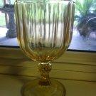 Large Amber Stemmed Goblet