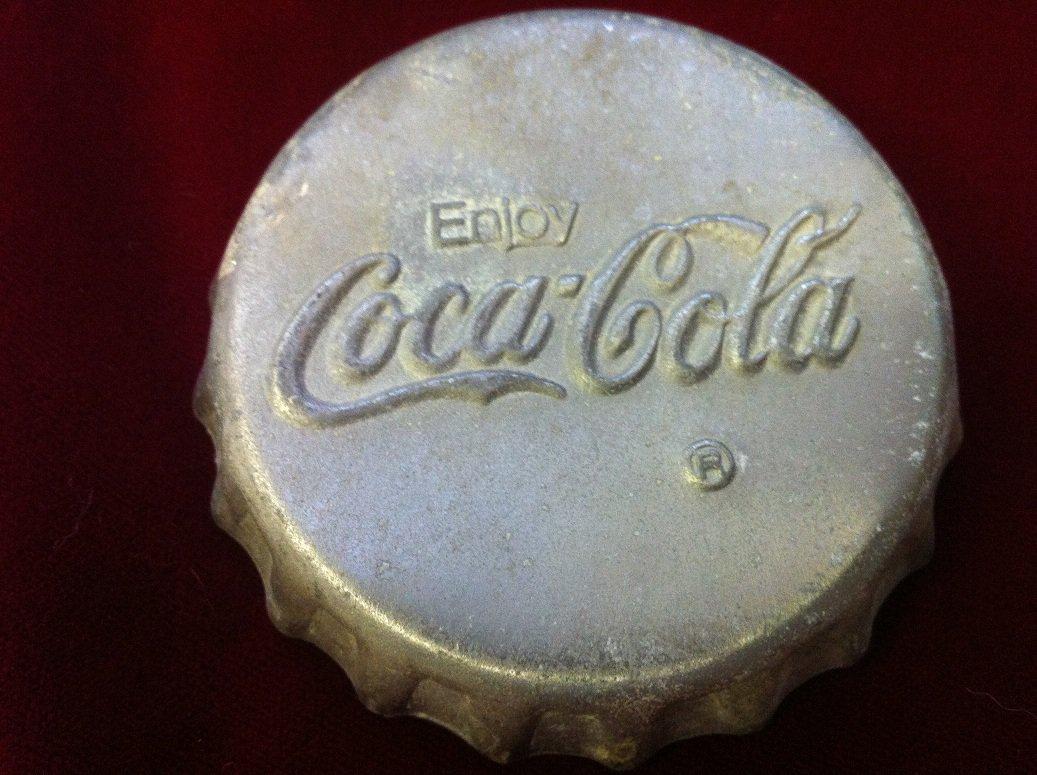 Rare Collectible Souvenir 3 Inch Coca Cola Metal Bottle Cap Top