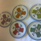5 Oriental 5-inch Porcelain Dishes Signed