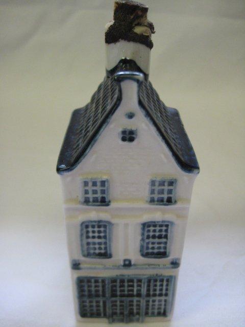 KLM Blue Delft Rynbende Miniature House Decanter #8