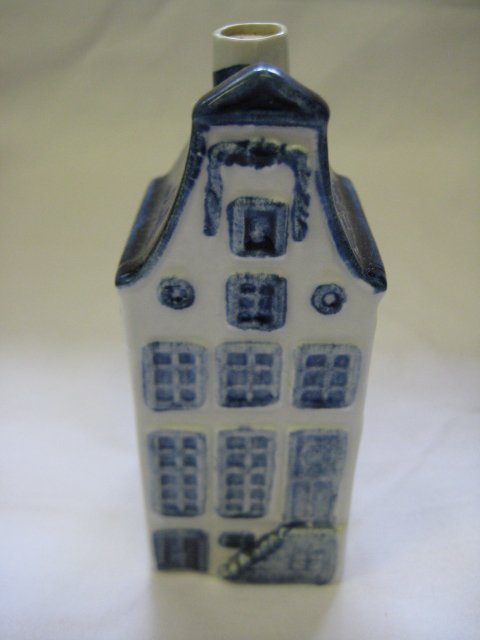 KLM Blue Delft Rynbende Miniature House Decanter #9