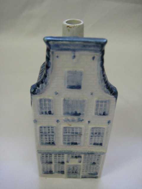KLM Blue Delft Rynbende Miniature House Decanter #23