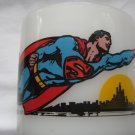 Vintage 1971 Superman DC Comics Glass Mug Cup by Federal Glass
