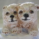 Vintage Basil Matthews England Polar Bear Cubs Figurine