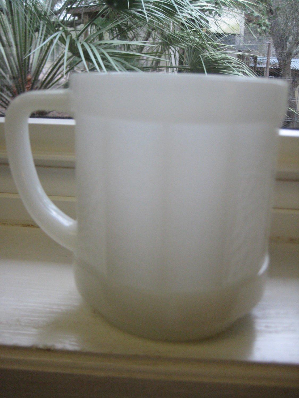 Collectible Federal Glass Mug - Orange Peel White Panels