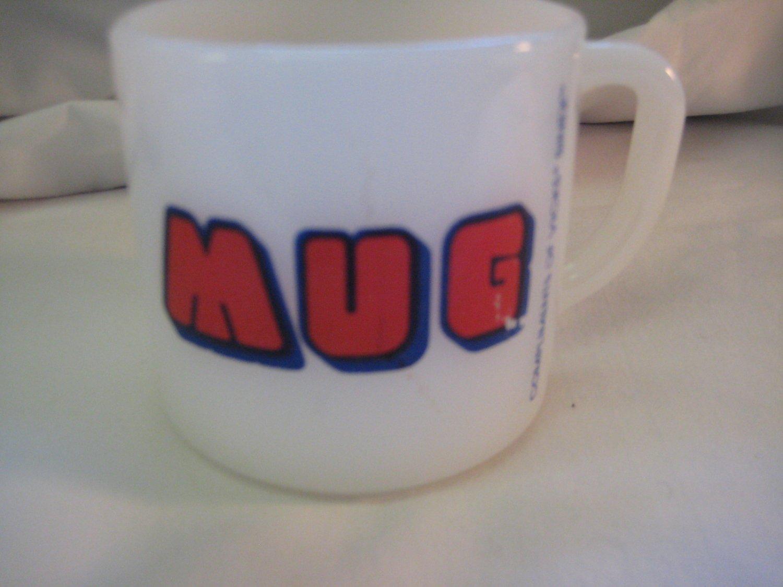 Collectible Federal Glass Mug Compliments of Vicks Sinex
