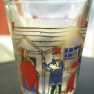 Shot Glass with Vintage Christmas Tree and Caroler Scenes