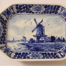 Royal Delft De Porceleyne Fles Octagon Shaped Windmill Dish