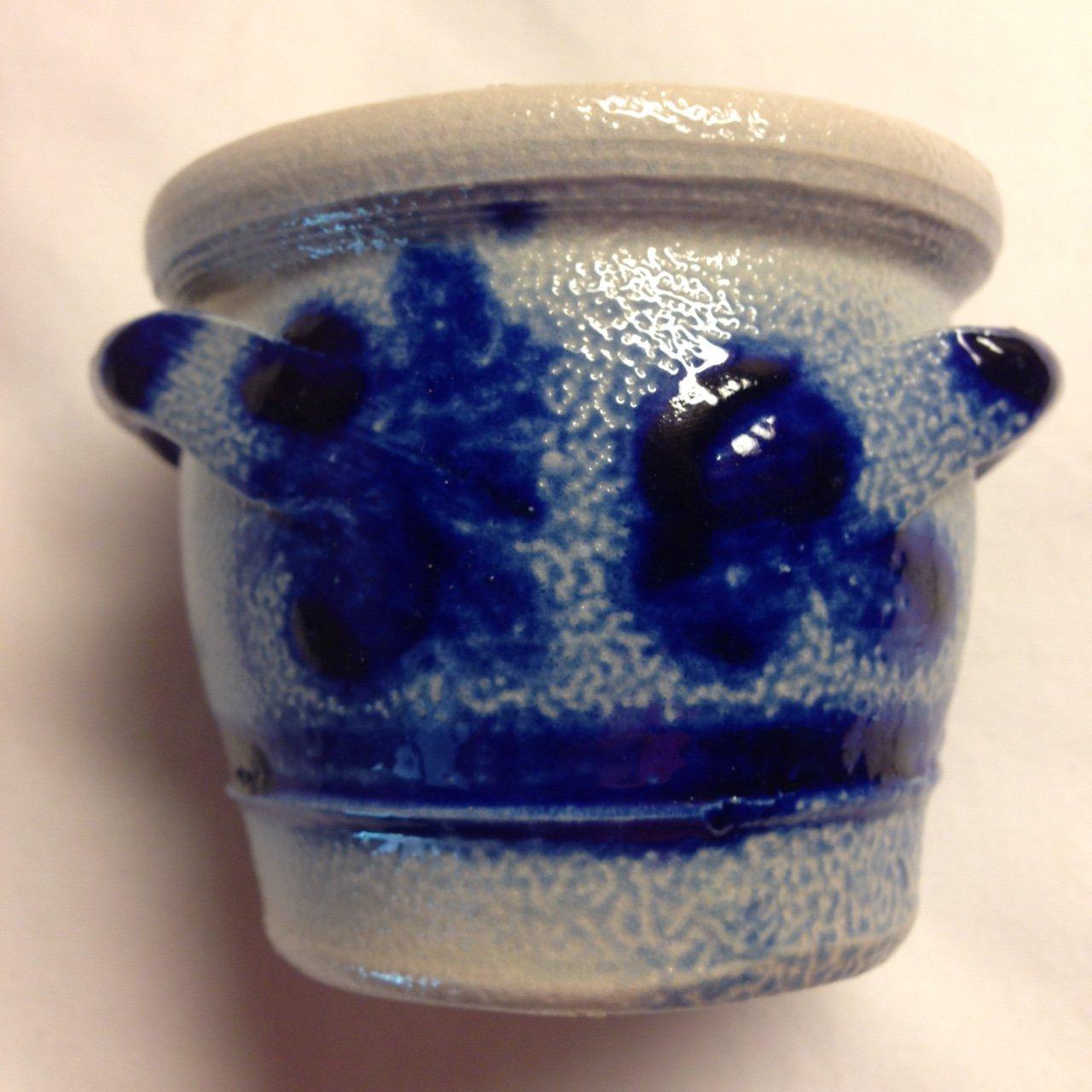 Vintage Delft Mustard Jar from Holland Circa 1960
