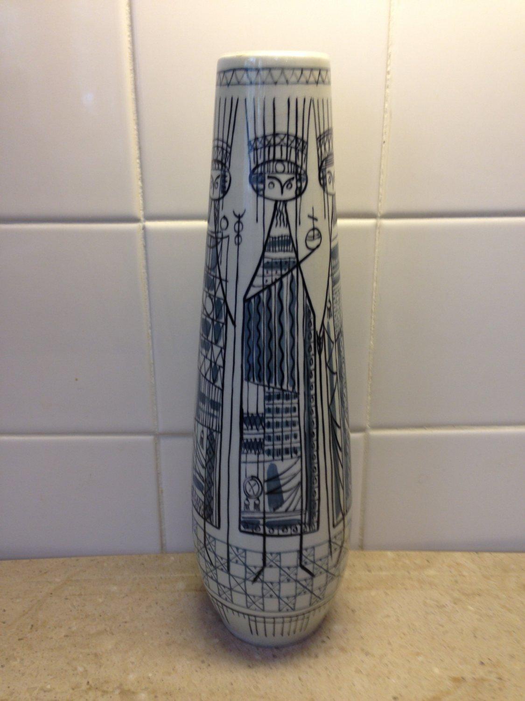 1957 Rare Royal Delft Koninklijke Porceleyne Fles Sandelfo Vase by Herman Sanders