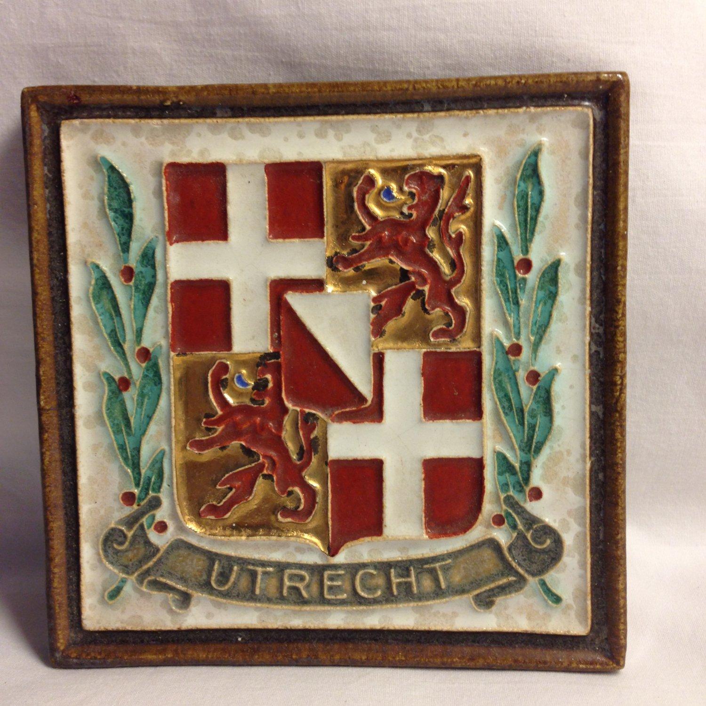 Tube Lined De Porceleyne Fles Royal Delft Cloisonne Tile Utrecht