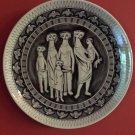 """Scarce 14"""" Royal Delft Koninklijke Porceleyne Fles Sandelfo Wall Plate/Charger by Herman Sanders"""