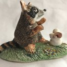 Vintage Basil Matthews England Raccoon and Mouse Figurine