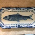 Vintage Royal Tichelaar Makkum Blue & White Herring Plate