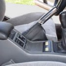 Toyota supra shift / shifter boot, 86-92 Black Leather