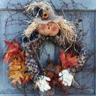 Pattern #3100 Scarecrow in Wreath by Bonnie B Buttons