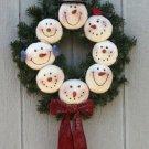 "20"" Snowman Wreath pattern #1707 by Bonnie B Buttons"