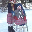 "46"" Snowman couple pattern #9900 by Bonnie B Buttons"