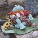 "# 325 7"" Frog doll pattern by Bonnie B Buttons"