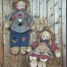 #525 Mr + Mrs Scarecow doll pattern by Bonnie B Buttons