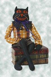 #2003 Primitive cat doll pattern by Bonnie B Buttons