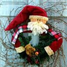 Pattern #3300 Santa in Wreath by Bonnie B Buttons