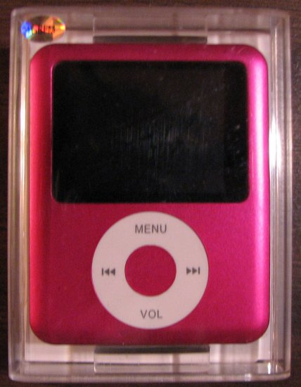 Pink iPod Nano style 3rd Gen MP3 Player