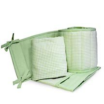 Seed Sprout Gingham Cradle Bedding Set - 3 Piece Set, Sage