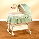Simplicity - Winnie the Pooh 4-in-1 Convertible Bassinet, Light Green