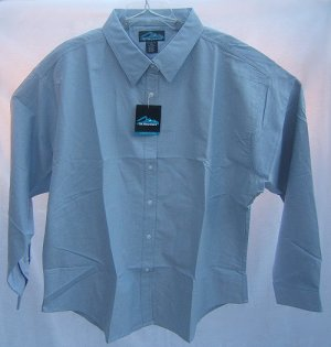 Womens Plus Size Button Down Oxford Size 2X