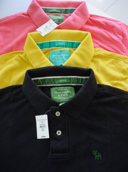 Wholesale Lot of Mens Abercrombie Polo Shirts