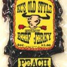 Peach BBQ jerky 4oz.
