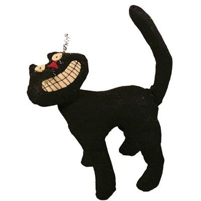 "NEW"" PRIMITIVE PLUSH BLACK CAT - 9""H - WITH BIG SMILE"
