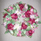 "ROSES AND LILIES WREATH - 18""D"
