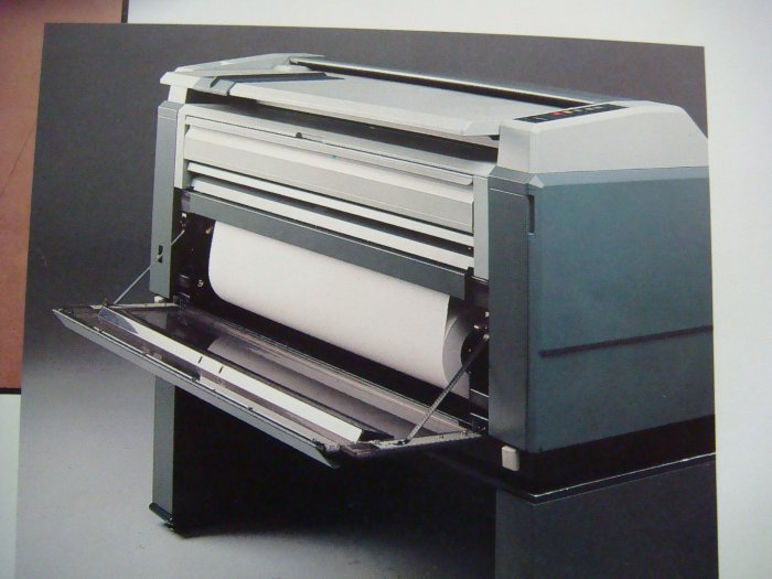 Oce 7100 Engineering Copier Automatic prints cuts paper