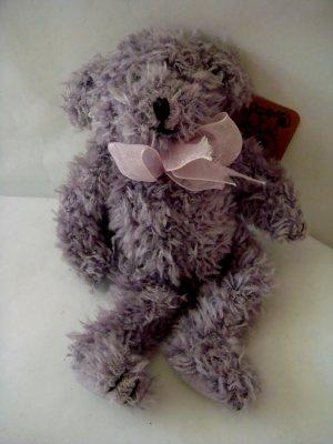 """small collectible 7"""" Lavendar Bear Heartfelt Collectible 1999"""