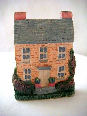 Miniature Plaster 3-D Brick Colonial house + magnet