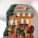 Miniature Plaster 3-D Flower Shop w Awnings +magnet