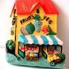 Miniature Plaster 3-D Fruit & Vegetable Shop +magnet