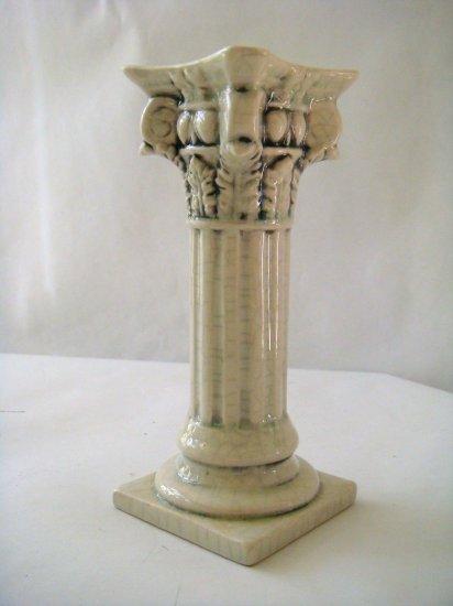 Ceramic Corinthian Column Candle Stick Holder