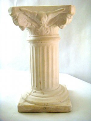 White Plaster Cast Architectural Column