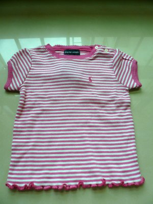 Ralph Lauren Pink Stripy Girls Top