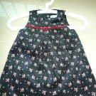 Old Navy Elegant Velvet Black Flowery Dress