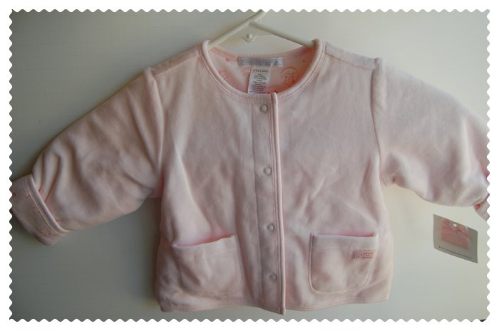 Janie and Jack Baby girl pink sweater size 6-9 months NWT